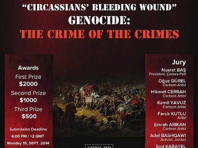 INTERNATIONAL CARTOON CONTEST: Circassians Bleeding Wound: Genocide; The Crime of the Crimes